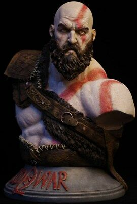 God Of War Kratos 1 3 Bust Figure Statue Resin Toy Collectibles Unpainted Copper