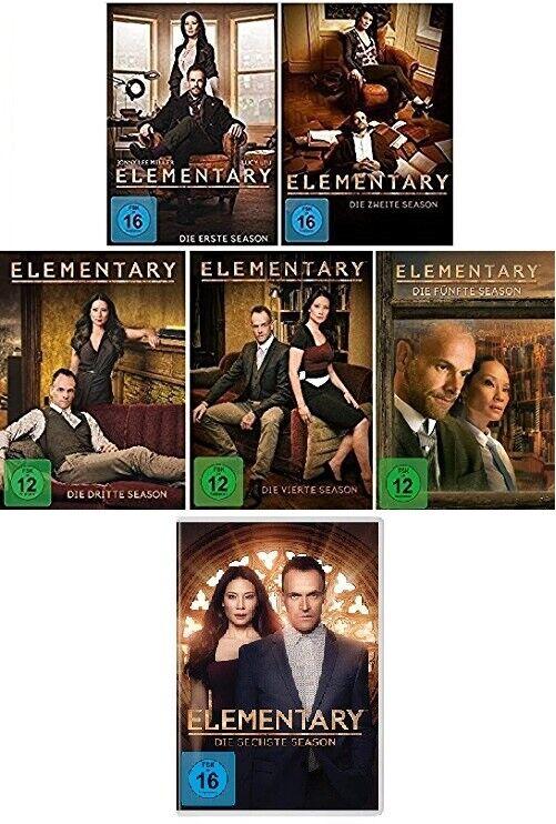 36 DVDs * ELEMENTARY - STAFFEL / SEASON 1 - 6 IM SET # NEU OVP +
