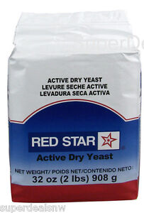 Red Star Bakers Active Dry Yeast 2 lb. Vacuum Pack