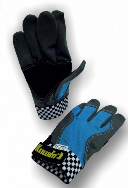 6 x KeilerFit blue, Lederfreier Arbeitshandschuh, Forsthandschuh, Gr. 9