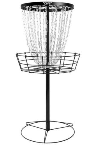 MVP Portable Disc Golf Basket Target 24 Chain Sturdy Metal Black Hole, 26 lbs