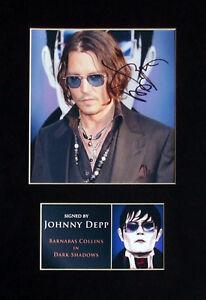 Johnny-Depp-Dark-Shadows-Signed-Mounted-Photo-Display-Autograph-4-Film