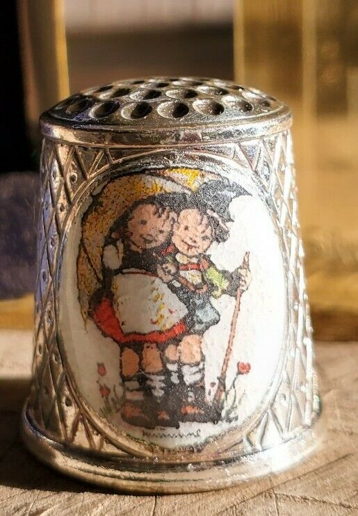 Hummel Silver Plate Thimble ARS Collection1985 Lim Ed, SF Versilbert, W. Germany