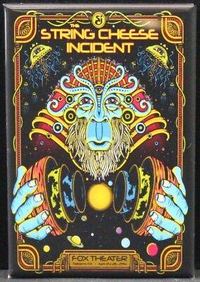 "The String Cheese Incident Concert Poster 2"" X 3"" Fridge / Locker Magnet."
