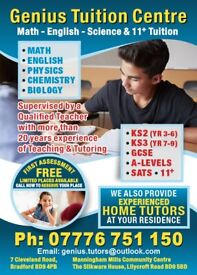 11 Plus/Primary/KS3/GCSE/A Levels Tuition from £8 per hour.