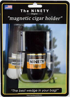 Golf Cigar Holder - The Ninety Degree Wedge Magnetic Cigar Holder - Great for Golf Carts! - Black