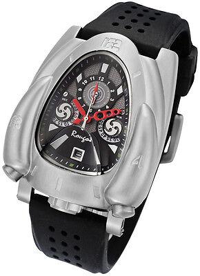 Rougois Color Plata & Negro Cohete Reloj