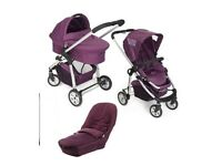 ICANDY Cherry PRAM with Carrycot Footmuff and Raincovers VGC
