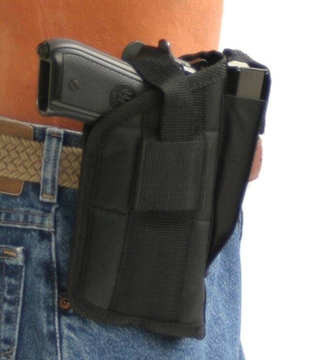Nylon Belt Gun Holster For Glock 17,19,22,20,21,31,33 With Tactical Light