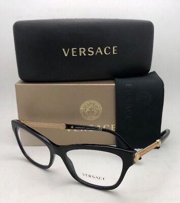 d5991c7a8b48 New VERSACE Rx-able Eyeglasses VE 3214 GB1 54-16 140 Black   Gold