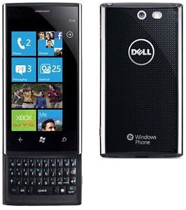 New Dell Venue Pro Black (Unlocked) Windows 7 Smartphone QWERTY and 5MP Camera