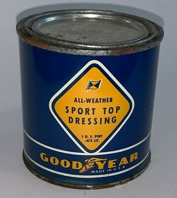 Vintage, GOODYEAR TIRES / ALL WEATHER / SPORT TOP DRESSING, 1 Pt., Tin Can