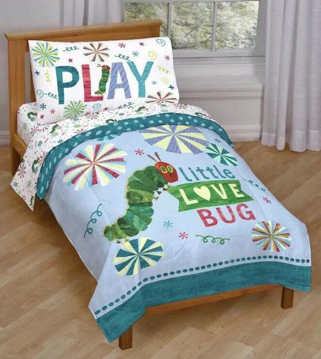 Eric Carle The Very Hungry Caterpillar 4 Piece Microfiber Toddler Bed Set