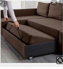 Ikea brown L SHAPE SOFA BED