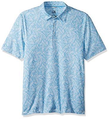 Cutter & Buck Men's Moisture Wicking Drytec UPF 50+ Print Jersey Polo Shirt Sm Cutter & Buck Jersey Polo Shirt
