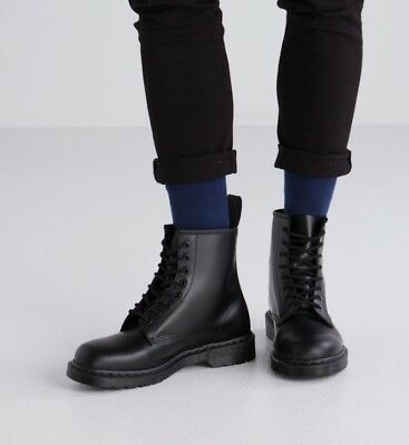 NEW Dr. Martens Men's 1460 Mono 8-Eye Gothic Black Smooth Leather Boot Shoes   ()