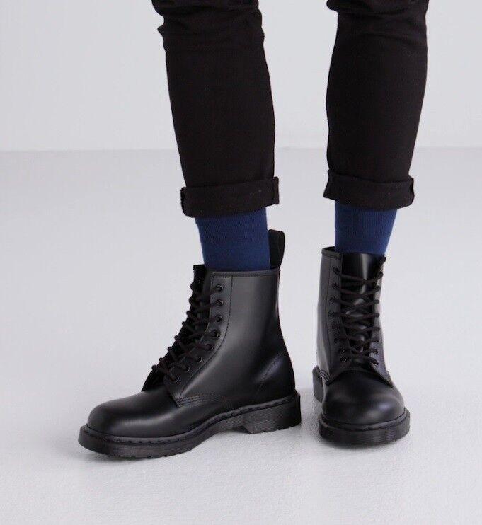 verschiedene Farben Qualität New York NEW Dr. Martens Men's 1460 Mono 8-Eye Gothic Black Smooth Leather Boot Shoes