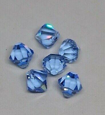 6pc Swarovski Crystal Light Sapphire 8mm Bicone Pendant 6301; Blue Bicone Pendant Light