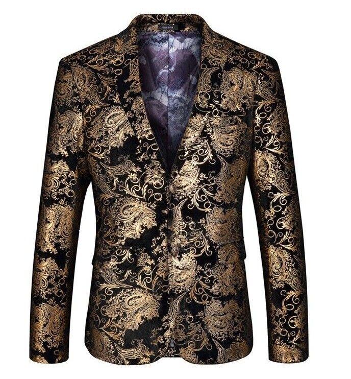 "Mens Velvet Blazer Jacket Adults Smart Slim-Fit Blazers Coat 36/""//38/""//40/""//42/""//44/"""