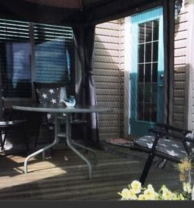 Patio table & folder chairs