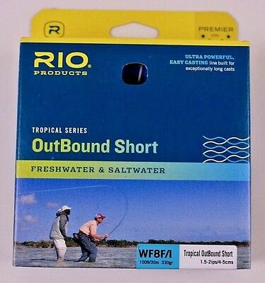RIO INTOUCH IN TOUCH COLDWATER OUTBOUND SHORT 235 GR WF-6-F FLY LINE FOR 6WT ROD