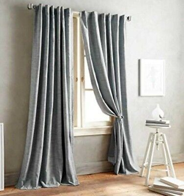 DKNY Front Row 84-Inch One Back Tab Lined Window Curtain Panel in Charcoal