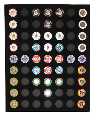 Chip Insert 63 Casino Chips Display Board 16 X 20 HOLDS 63 CHIPS New Item *