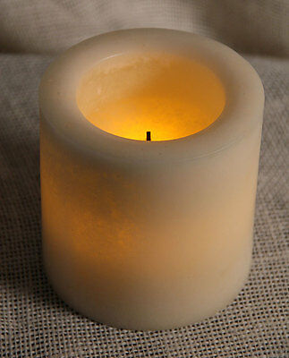 Candle Impressions 4x4 Smooth Mottled Flameless Candle Timer CAT61404SMOO  Mottled Pillar Candle