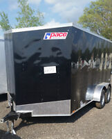 New 2016 Pace 7x16 Enclosed Upgraded Extra Height Ramp 1 Left