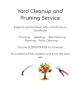 Yard Cleanup and Pruning Service