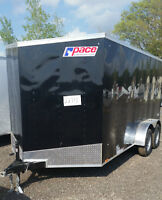 New 2016 7x14 Enclosed Trailer V Nose RAMP Door Warranty