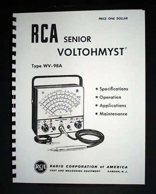 Rca Senior Voltohmyst Wv-98a Wv98a Manual