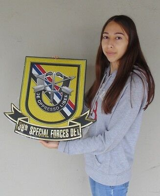 """39th Special Forces Detachment KOREA (SF) Group Airborne all metal Sign 18 x 19"""""""