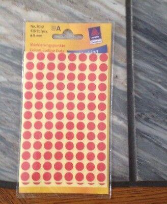 Avery Zweckform Markierungspunkte, 1 Packung 416 Stück, Klebepunkte Neu
