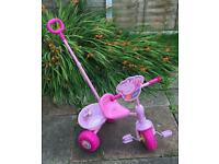 Peppa pig first trike with handle new