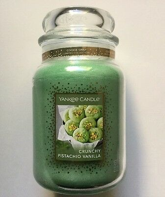 YANKEE CANDLE CRUNCHY PISTACHIO VANILLA 22 oz. LARGE JAR COOKIE SWAP RETIRED HTF