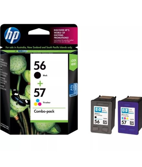 Genuine HP56 + HP57 CC629AA Black & Color Combo Pack INK Cartridges