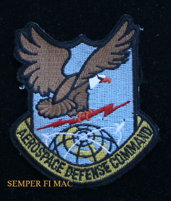 Authentic Aerospace Defense Command Hat Patch Us Air Force Veteran Pin Up Wow