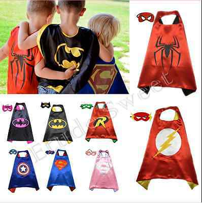 HOT  Boys Girl Superhero Cape cape&mask for kids birthday party favorite gifts - Hot Girl Kids