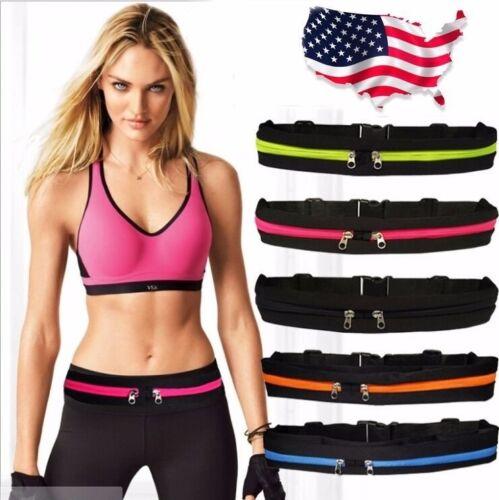 Gym Fitness Sport Runner Waist Bum Bag Running Jogging Belt Pouch Zip Fanny Pack Bags