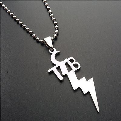 Tcbcd elvis presley tcb metal pendant chain present gift necklace free pp mozeypictures Gallery