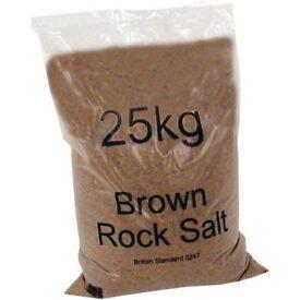 rock salt 25kg bags £2.70 per bag get ready for winter