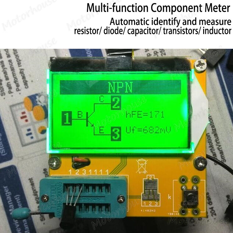 Digital Component Tester Transistor Diode Capacitor Inductor Resistor ESR Meter