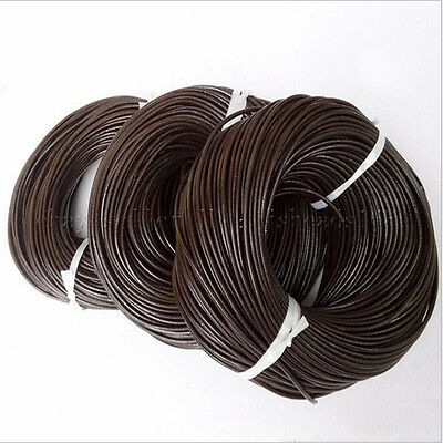 Brown Leather Cord Bracelet - Genuine Leather Cord Thread For Diy Bracelet Necklace Jewelry Making Black Brown