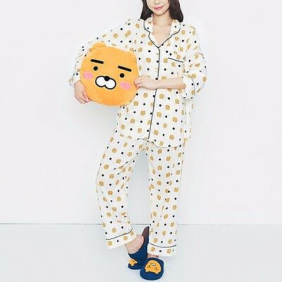 [KAKAO FRIENDS] RYAN Pajamas Set long Sleeve Free Size Sleepwear +Tracking