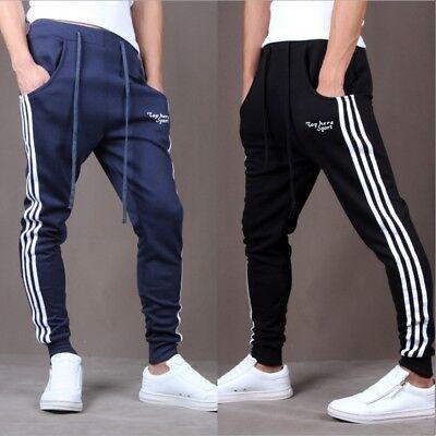 Männer Gym Slim Fit Hosen Trainingsanzug Bottoms Skinny Joggers Trainingshose DE