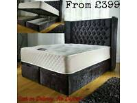 LUXURY WING OTTOMAN BED