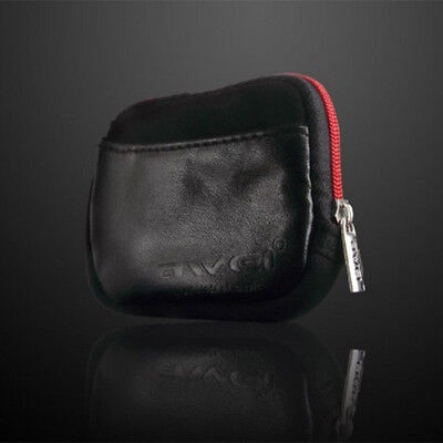 AWEI Leather Case Storage Pouch Bag For Headphone Earphone MP3 MP4 MP5 Player A