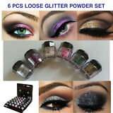 Beauty Treats 6 NEW Eye shadow Color Makeup PRO GLITTER Eyeshadow PALETTE
