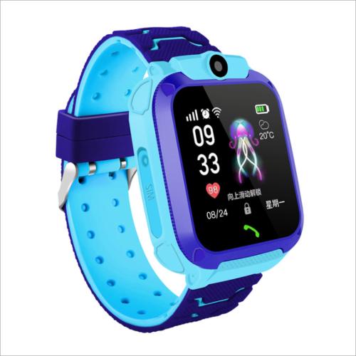 Blau Kinder GPS-Telefon Armbanduhr Smart Watch Wasserdicht Tracker Smartwatch